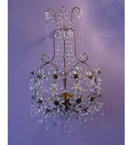 Floral Crystal Drop Detailed 2 Light wall lamp.