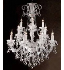 Murano Glass 16 Light Neoclassical Hale Chandelier.