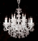 Murano Glass 15 Light Neoclassical Hale Chandelier.