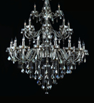 Marie Therese Crystal Leaf Drop Chandelier