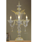 Floral Design Glass Table Lamp