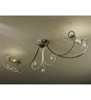 Botte Design Flush Chandelier With Hand Forged Details And Glass