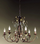 Fiocco Design Chandelier With Crystal Tear Drop Details