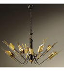 Arlecchino design 8 Light chandelier with Swarovski crystal details