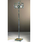 Menta Design Hand Made Floor Lamp with Floral Crystal Cetail