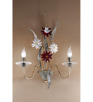 Nontiscordardime design murano glass & hand forged roses wall light