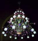 Accuracy Design mixed flower & colour detailed tiered chandelier