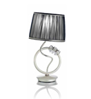 Ombrello Design Chrome Table Lamp with Swarovski Crystal