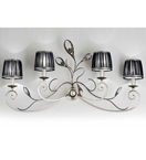 Pavone Design Metal Frame 4 Arm Wall Light